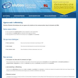 Agence web e-Marketing et Hébergement - Saguenay, Québec