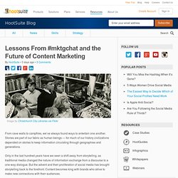 Lessons From #mktgchat and the Future of Content Marketing