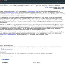 Law Firm Marketing Agency Provides SEO Tips For Immigration Attorneys
