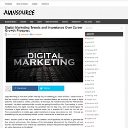 Digital Marketing Trends and Importance Over Career Growth Prospect