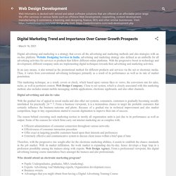 Digital Marketing Trend and Importance Over Career Growth Prospects