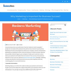 Why Marketing is Important for Business Succes