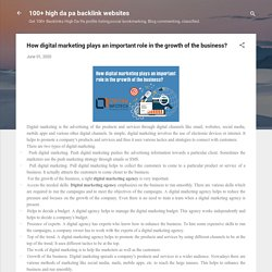 How digital marketing plays an important role in the growth of the business?