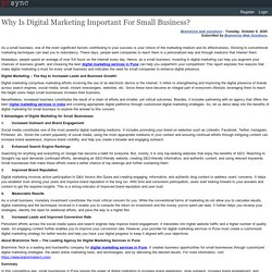 Why Is Digital Marketing Important For Small Business?