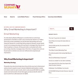 Why Email Marketing Is Important? - Compare Munafa
