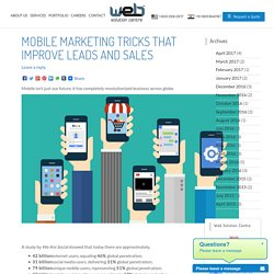 Mobile Marketing Tricks That Improve Leads and Sales - Web Solution Centre