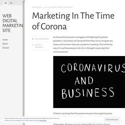 Marketing In The Time of Corona