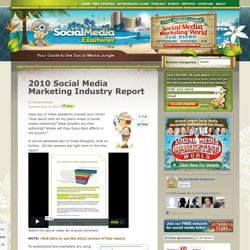 2010 Social Media Marketing Industry Report