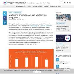 Marketing d'influence : que veulent les blogueurs ?