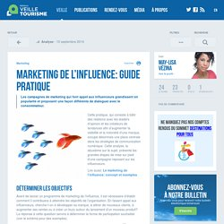 » Marketing de l'influence: guide pratique