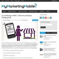Le marketing mobile : 5 bonnes pratiques (infographie) - My Marketing Mobile