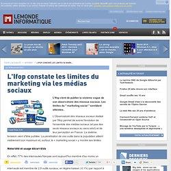L'Ifop constate les limites du marketing via les médias sociaux