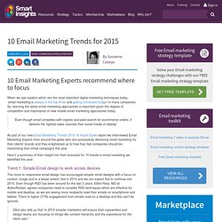 10 Email Marketing Trends for 2015