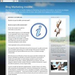 Blog Marketing insolite: Qu'est ce que la veille commerciale?