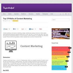 Top 5 Pitfalls of Content Marketing