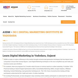 ASDM - Digital Marketing institute in Vadodara