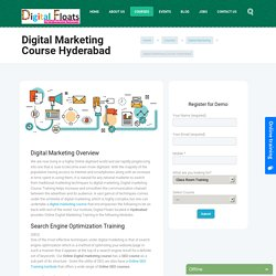 Best Digital Marketing Courses Training Institute Hyderabad - Digital Floats