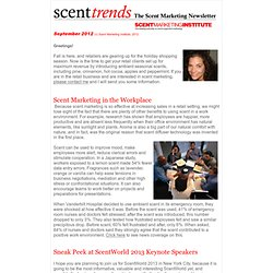 Scent Marketing Institute Newsletter September 2012