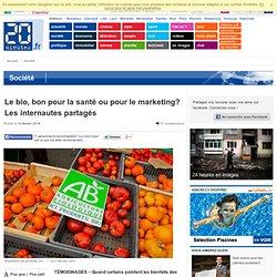 Le bio, bon pour la santé ou pour le marketing? Les internautes partagés