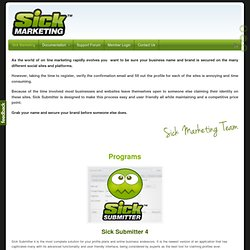 Sick Submitter - Automated Marketing Tool | Sick Marketing