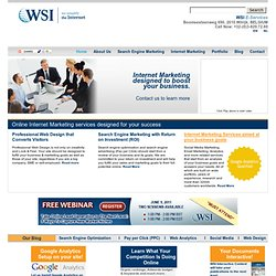 online marketing | internet marketing | digital marketing: WSI E-Services