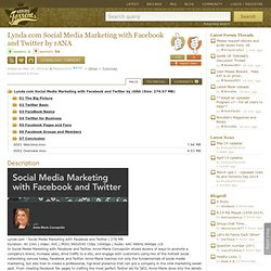 Download Lynda com Social Media Marketing with Facebook and Twitter by rANA Torrent