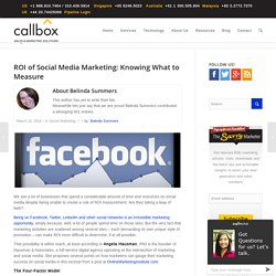 ROI of Social Media Marketing: Knowing What to Measure