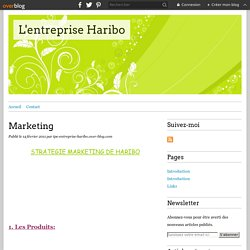 Marketing - L'entreprise Haribo