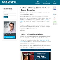 5 Email Marketing Lessons From The Obama Campaign
