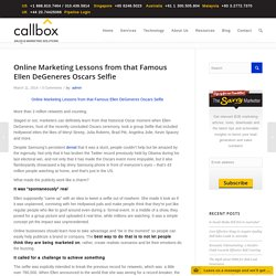 Online Marketing Lessons from that Famous Ellen DeGeneres Oscars SelfieB2B Lead Generation, Appointment Setting, Telemarketing