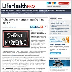 What's your content marketing plan?