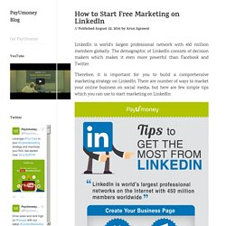 How to Start Free Marketing on LinkedIn