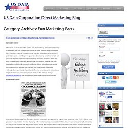 Fun Marketing Facts - Mailing Lists, Sales Leads, Direct Marketing Blog: US Data Corporation