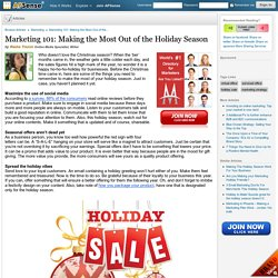 Marketing 101: Making the Most Out of the Holiday Season by Rasha Tiozon