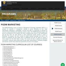 PGDM MARKETING MANAGEMENT