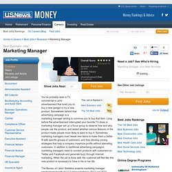 Marketing Manager Job Overview