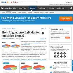 Sales - How Aligned Are B2B Marketing and Sales Teams?