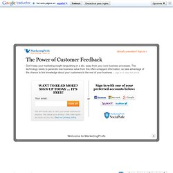 Strategy - The Power of Customer Feedback