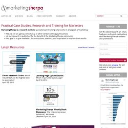 MarketingSherpa Home