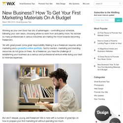 How To Get Your First Marketing Materials On A Budget