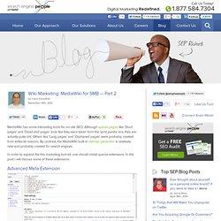 Wiki Marketing: MediaWiki for SMB — Part 2