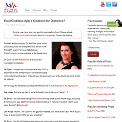 Marketing Medical Devices: EndoGoddess App At Apple Store