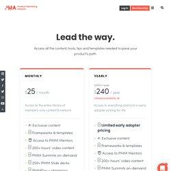 Product Marketing Alliance Membership Plans
