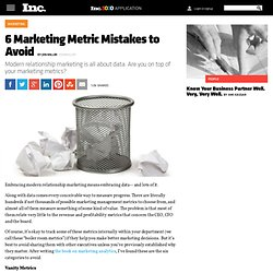 6 Marketing Metric Mistakes to Avoid