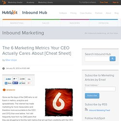 The 6 Marketing Metrics Your CEO Actually Cares About [Cheat Sheet]