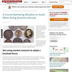 4 Crucial Marketing Mistakes to Avoid When Doing Business Abroad - Globial Talks Business