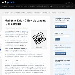 Marketing FAIL – 7 Newbie Landing Page Mistakes