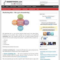 Marketing Mix - The 4 p's of marketing