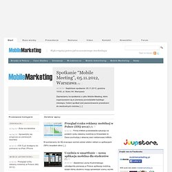 Mobile Marketing, Bluetooth, Fotokody, Kampanie SMS | MobileMarketing.pl