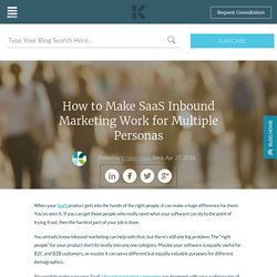 How to Make SaaS Inbound Marketing Work for Multiple Personas